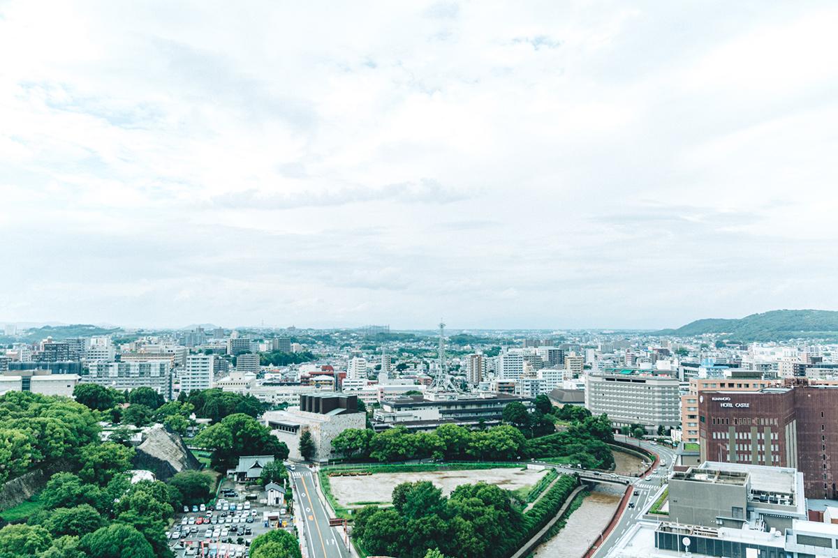 高台から見た街の様子