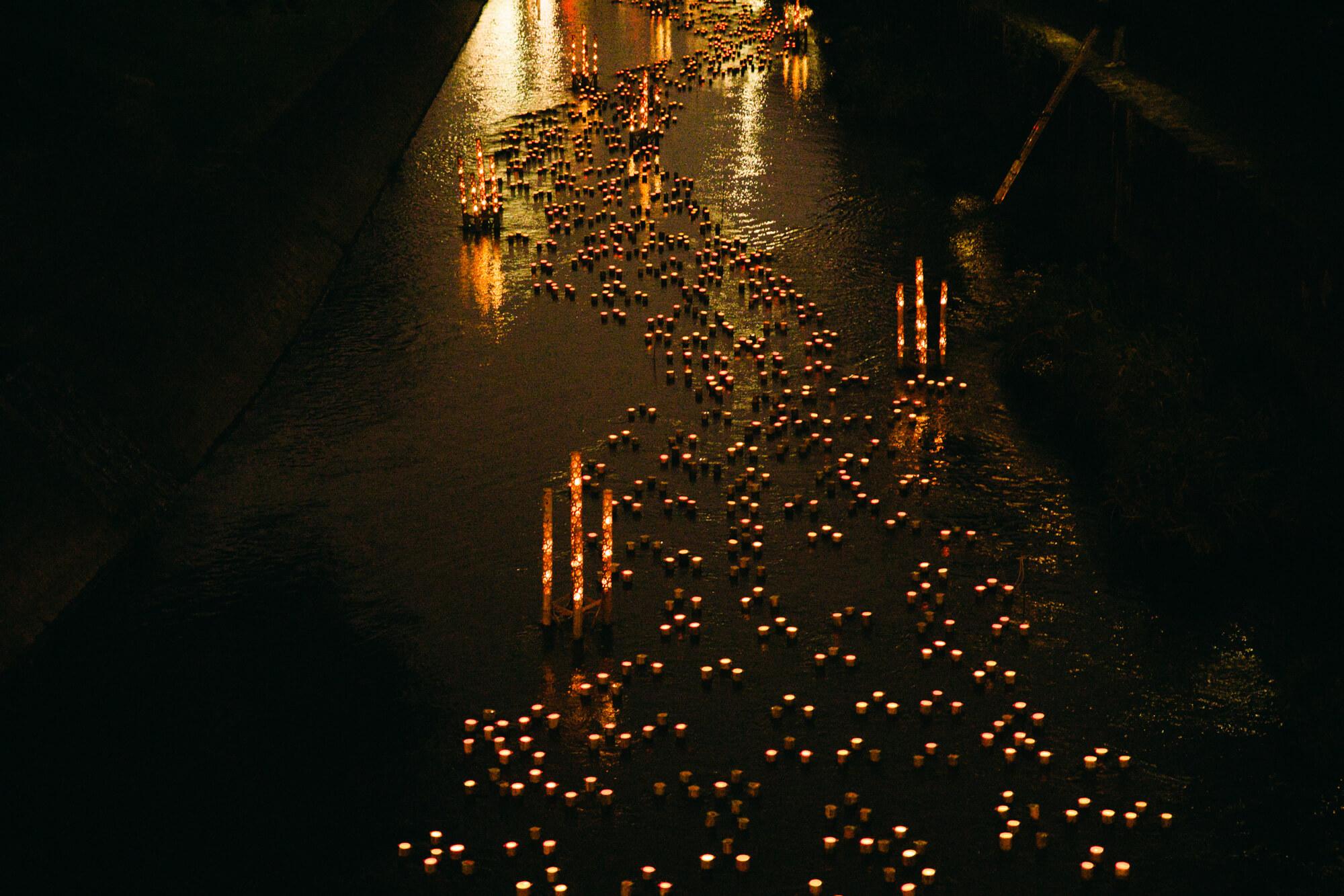 坪井川の光景