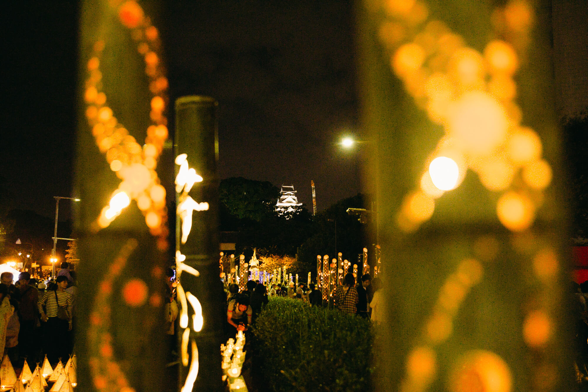 熊本城と「みずあかり」風景