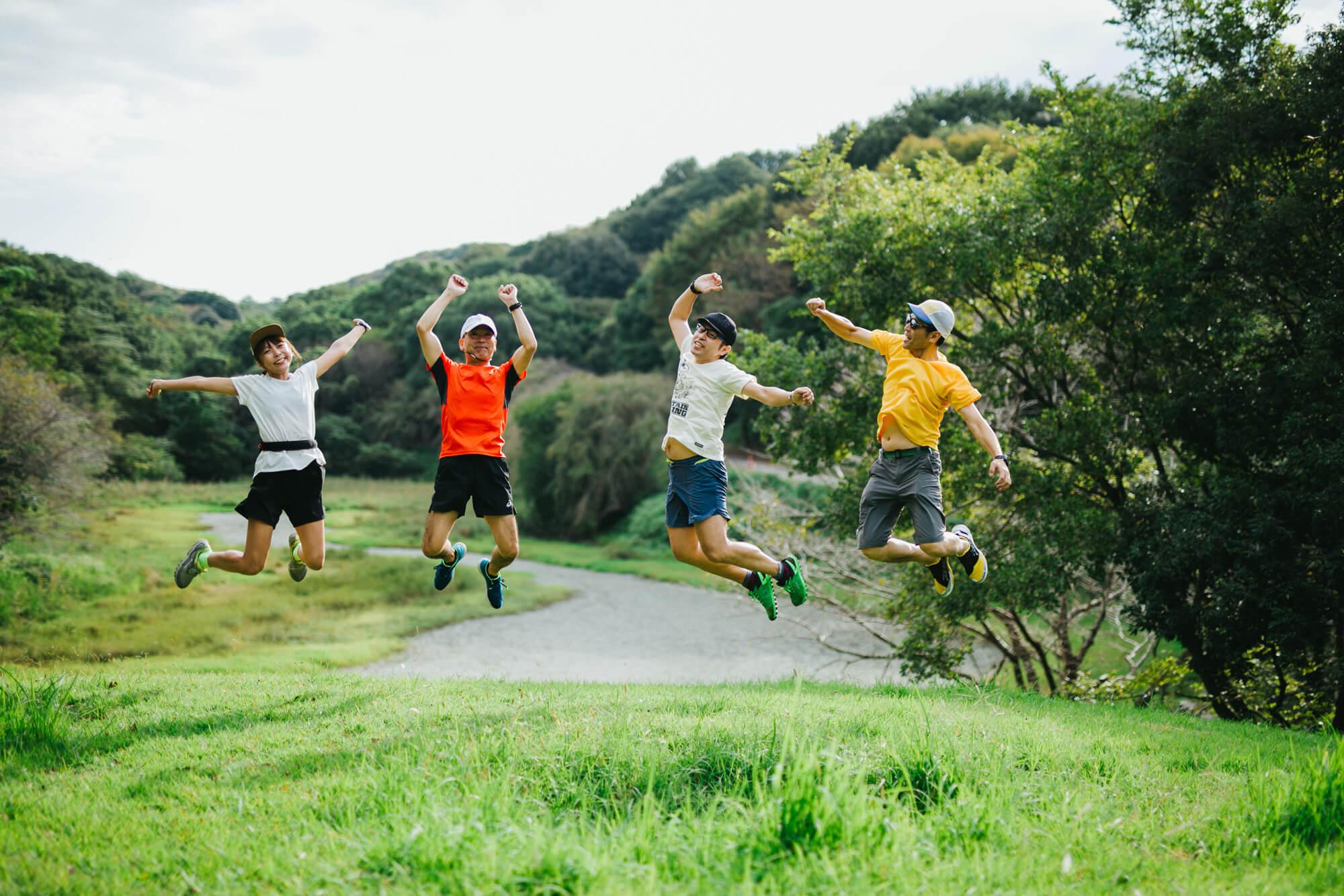 トレイルラン後のジャンプ